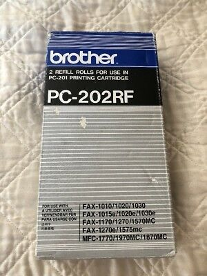 Brother PC-202RF Thermal Transfer Fax Print Cartridge Refill 2 Rolls oem