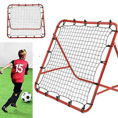 Pro Rebounder Net Football Training Adjustable Kickback Soccer Target Goal Child