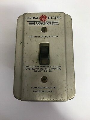 Vtg General Electric GE Motor Starting Electric Switch Model CR1061H2A