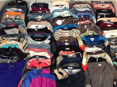 Lot Of 12 Womens Clothing Size Large Mix Varity  Blouses Knit Tops Sweaters