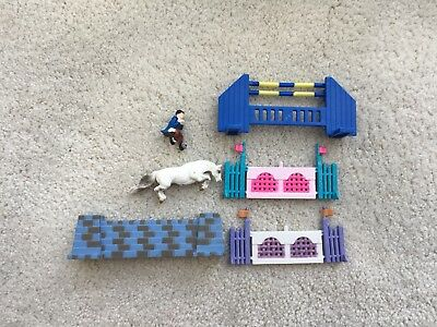 Breyer Horse Mini Whinnies Canadian Rockies Jumps Show Jumping #300126 Play Set
