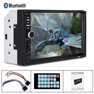 "New 7"" 2 Din Touch Screen Car MP5 Player Bluetooth Stereo FM Radio USB/TF AUX In"