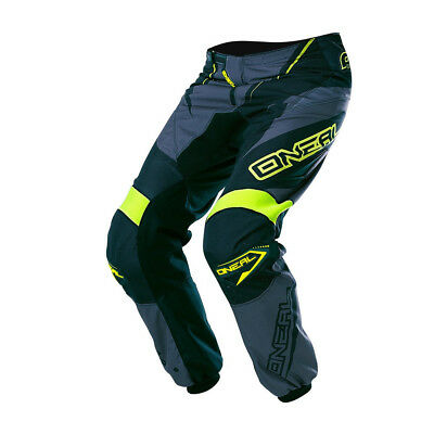 Oneal Mx Gear Element Racewear Adult Motocross Dirt Bike Pants Black/Grey/Hv Siz