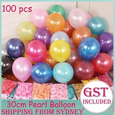 100x Latex Pearl Helium Balloons Balloon Party Air Wedding Birthday Large 30cm A