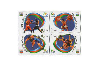Azerbaijan Summer Olympic Games Rio 2016 Sports Olympics Boxing 4 MNH stamps set