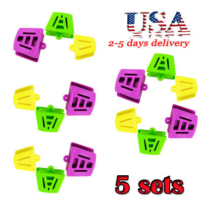 5* Sets 3PCS/set Dental Flexible Silicone Latex Mouth Prop Bite Blocks L/S/M