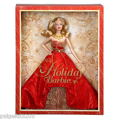 Mattel Barbie Collector 2014 Holiday Barbie Doll - Blonde BDH13