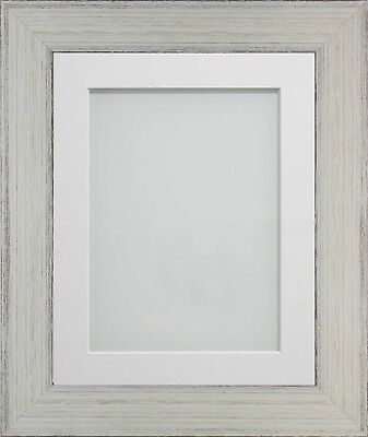 Frame Company Kingswood Range White Wooden Rustic Picture Photo Frames and Mount