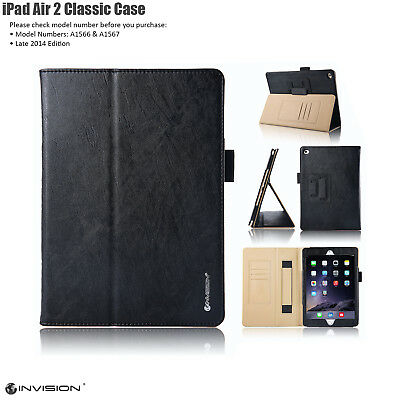 iPad Air 2 Classic Smart Case Cover by Invision for Apple Air 2 Tablet in Black