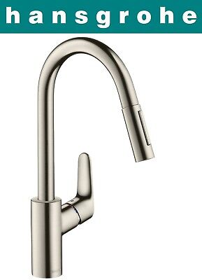 Hansgrohe Focus Single Lever Kitchen Mixer With Pull Out