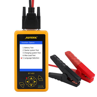 AUTOOL BT-460 12V 24V Car Truck Battery System Tester Cranking Charging Analyzer