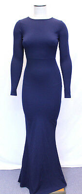1132081bf680 MISSGUIDED LONG SLEEVE Open Back Maxi Dress CB8 Navy Size US 0 NWT ...