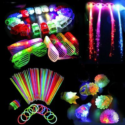60PCS LED Party Favors Light Up Glow Toys Flashing Ring Glasses Child Gift Decor