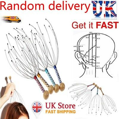 Head Scalp Massager Neck Stress Pain Relief Massage Tool Headache Tension Relax