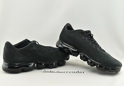 102688f7bf7898 Nike Air Vapormax LTR - SIZE 11 - NEW- AJ8287-001 Leather Triple Blackout