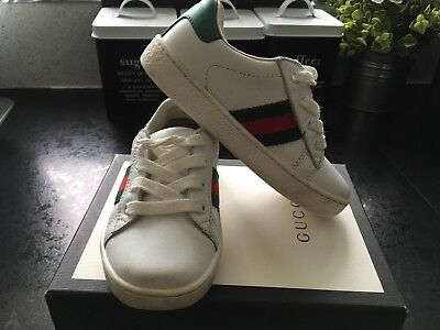 99dfa762a77e01 Gucci Shoes Source · BOYS DESIGNER GUCCI Shoes trainers Size 25 Uk7 5  Infant With Box