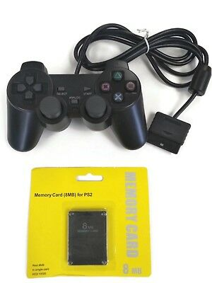 PS2 Controller with 8MB Memory Card