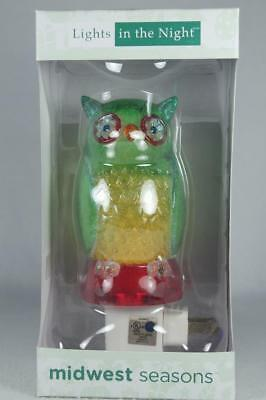 Midwest Lights In The Night 'Owl' Colorful Night Light Swivel Plug New In Box