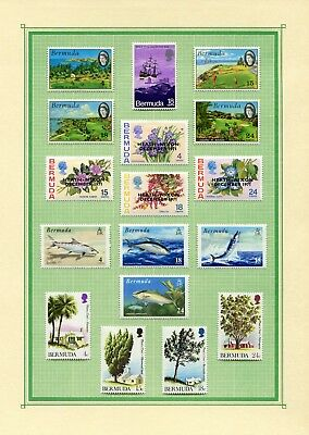 Weeda Bermuda 282-307 VF LH 1971-1973 Various Commonwealth CV $21.15