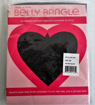 Labor of Love Belly Bangle Crisscross Support Black Size: S/M