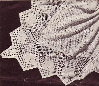 VINTAGE BUNNY SHAWL /3ply square - COPY Baby shawl pattern