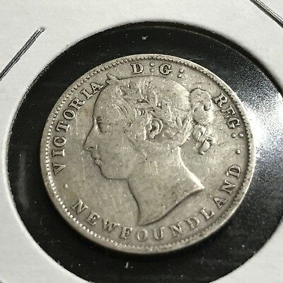 1900 Newfoundland  Sterling Silver 20 Cents Queen Victoria