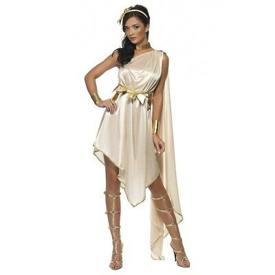Goddess Costume Adult Greek or Roman Toga Halloween Fancy Dress Outfit