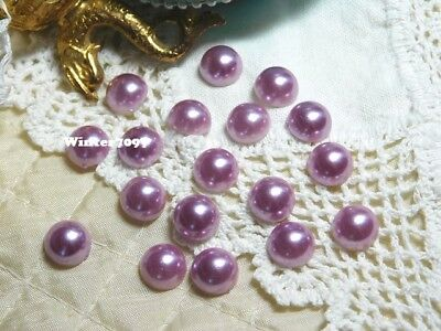 (192)*costume Makers Sellout*flat Back Pearl Jewels*round*mauve*new!*