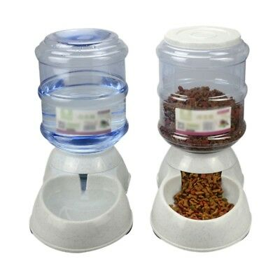 Pet Automatic Feeder Dispenser Waterer Dog Cat Self Feeding Food Water Bowl AU