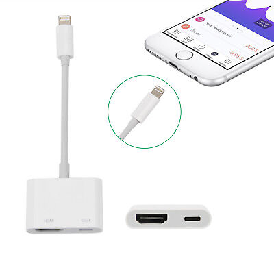 Lightning To HDMI Digital AV TV Cable Adapter For Apple iPad iPhone 7 Plus 6s 6