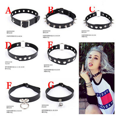 Fashion Graceful Necklaces Charms Black Leather Vintage Lady Gothic Chockers GAL