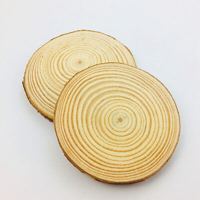4pcs Natural Wood Round Painting Stamping Blanks Crafts Personalized 50-70mm