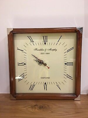 Vintage Timber Square Wall Clock
