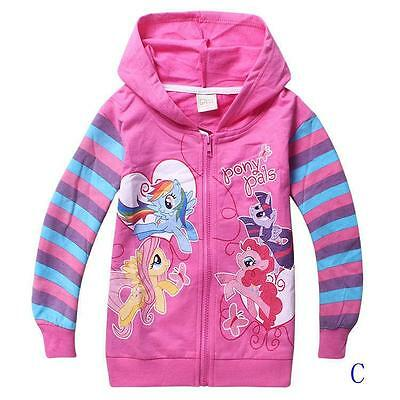 New My Little Pony Hoodie PINK  3 YEARS JACKET Rainbow Dash twighlight