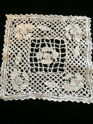 Antique Small Lace Doily Sample Doll Blythe Sewing Applique Victorian Edwardian
