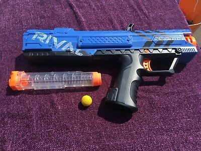 Nerf Rival Apollo XV-700 BLUE Blaster Gun complete with magazine