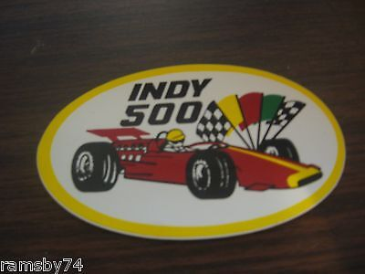 Vintage original indy 500 sticker decal auto racing free shipping