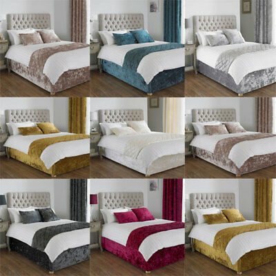 Paoletti Verona Crushed Velvet Bed Wrap