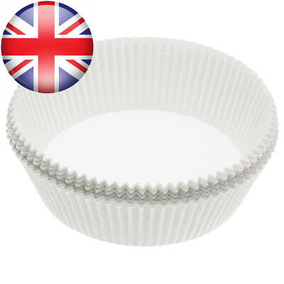 KitchenCraft Non-Stick Round Paper Cake Tin Liners, 20 cm (Pack of 40)