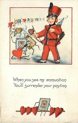 Valentine Fantasy~Marching Cards With Arms & Legs~Cupid's Ammo~Emb~Whitney Made