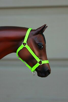 Model Horse Halter-Traditional (1:9) size-Key Lime
