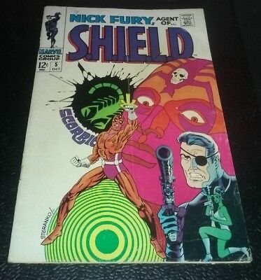 Nick Fury, Agent of S.H.I.E.L.D. #5 Classic Steranko Psychedelic Cover 4.0 VG