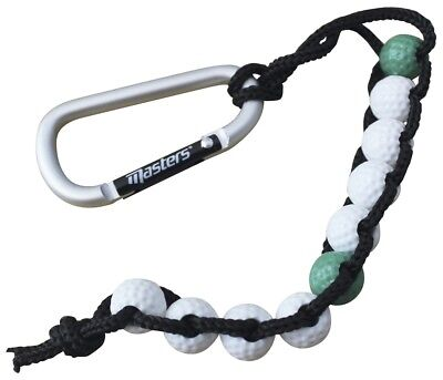 Masters Golf Course Shot Scoring Bead Strokes Counter With Carabiner Clip