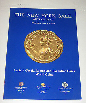 New York Sale Auction XXXII Ancient Greek Roman Byzantine Coins Catalog 2014