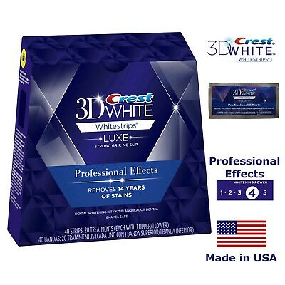 Crest3D LUXE Professional Effects Bandes Blanchiment Dents 10 14 20 40 80 Strips