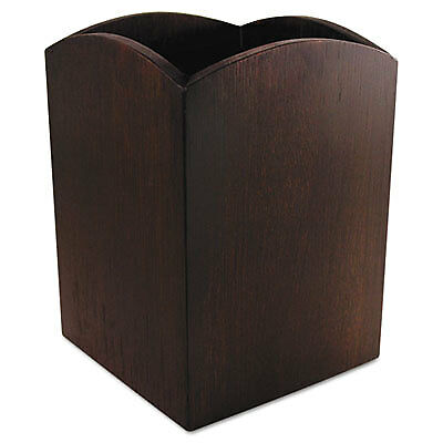 Bamboo Curved Pencil Cup, 3 x 3  4 1/4, Espresso Brown ART11005C