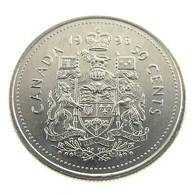 1996 Canada 50 Fifty Cents Half Dollar Canadian Brilliant Uncirculated Coin F459