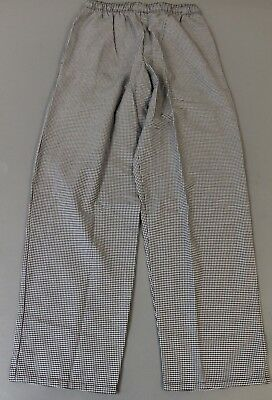 Uncommon Threads Men's Classic Baggy Houndstooth Chef Pants CB4 Black Small NWT