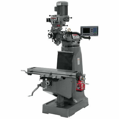 Jet 690072 JTM-2 Mill, 3-Axis ACU-RITE 200S DRO (Quill) With X-Axis Powerfeed