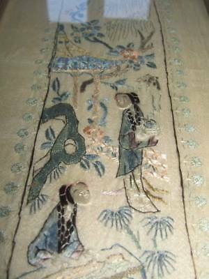 Quality Antique Chinese Hand Embroidered Silk Panel